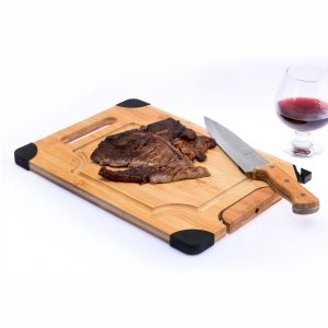 Cutting Board With Knife Sharpener & Stand by Bamboo Craft