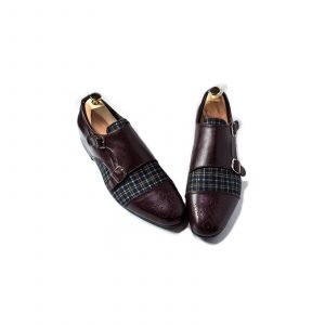 Plaid-double-monks-with-dotted-lines